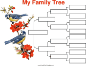 4 Generation Family Tree with Birds