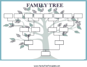 Blank Family Tree