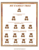 Teddy Bear Family Tree