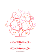 Wedding Heart Thumbprint Tree