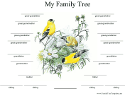 Family Tree with Birds