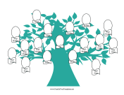 Blended Family Tree with Graphic