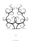 Bride and Groom Thumbprint Tree