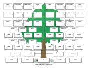 Extended Family Tree Multiple Spouses Graphic