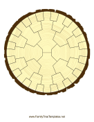 Radial Family Tree 5 Generation Stump