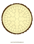 Radial Family Tree 6 Generation Stump