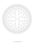 7 Generation Radial Family Tree