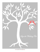 Wedding Bird Tree