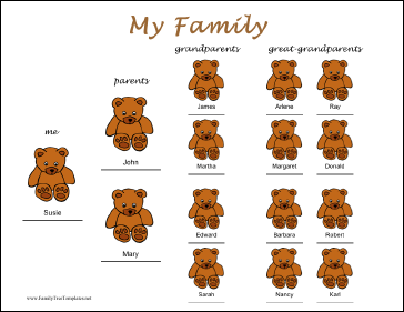 $4 family tree template