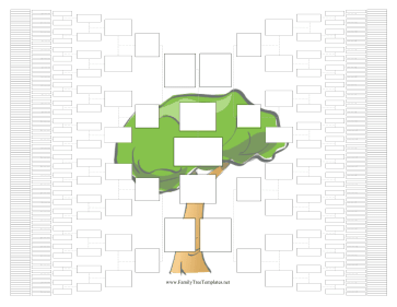 1-Page 9-Generation Family Tree Graphic Template