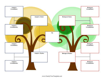 3-Generation Adoption Family Tree Template