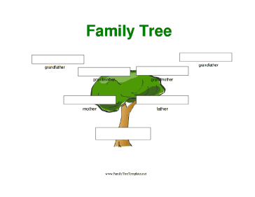 Free family tree template free blank family tree template lank 3 generation family tree with large boxes template saigontimesfo