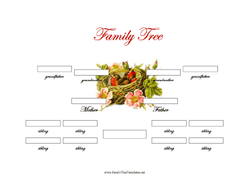 3 generation family tree with siblings template for Family tree templates with siblings
