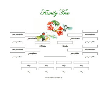 4 generation family tree with siblings template for Family tree templates with siblings