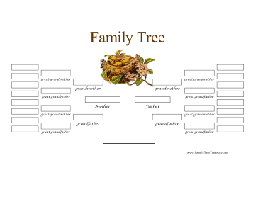 Elegant 5 Generation Family Tree Template