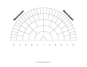 6 Generation Family Tree Fan Chart Template