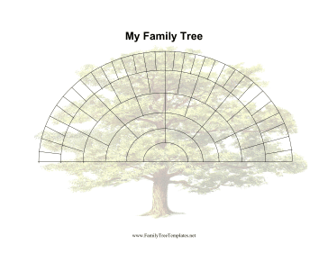 6 Generation Fan Family Tree Template
