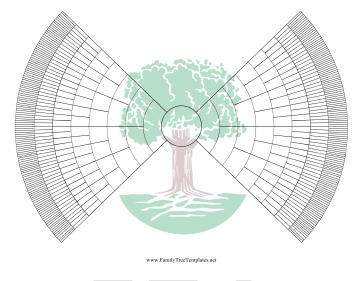 9-Generation Bowtie Family Tree With Graphic Template