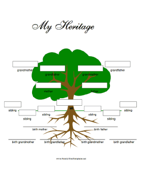 Tree with Birth- and Adoptive Family Template