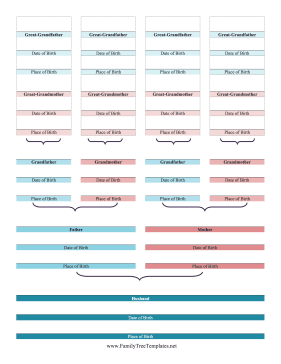 Bible-Style Husband Family Tree Template
