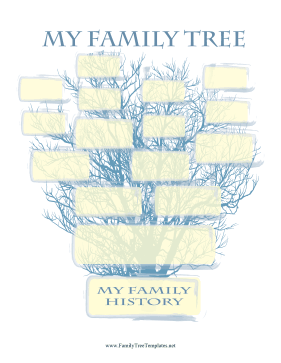 Blue Family Tree Template