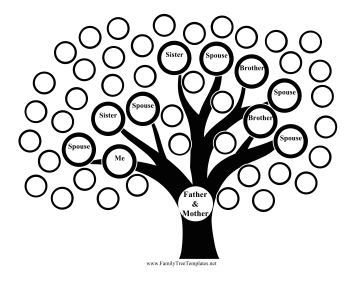 Family Tree Multiple Kids Template