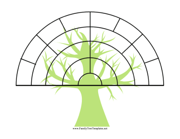 Fan Family Tree with Graphic Template