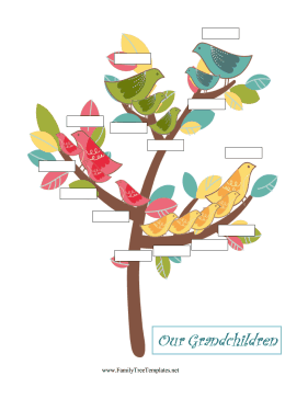 Grandchildren Family Tree Template
