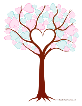 Heart Family Tree Template