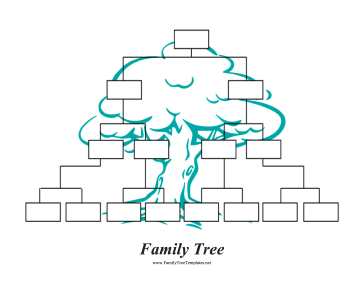 inverted family tree template