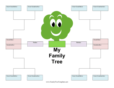 Kid Family Tree Template