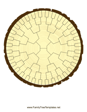 Radial Family Tree 6 Generation Stump Template