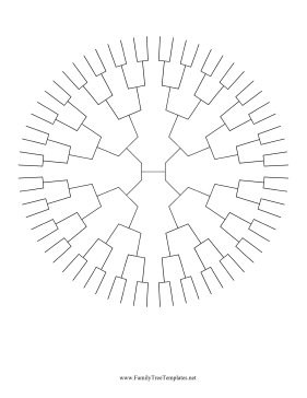 6 Generation Radial Family Tree Template