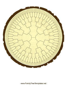 Radial Family Tree 7 Generation Stump Template