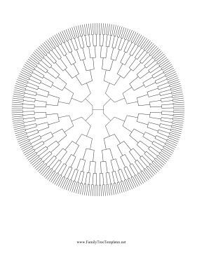 8 Generation Radial Family Tree Template