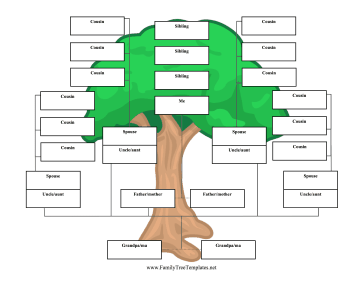 reverse family tree 3 generations template