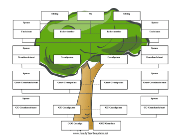reverse family tree 6 generations template
