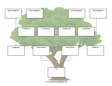 Step-Family Tree Three Generations Template