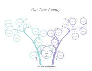Two-Family Tree Template