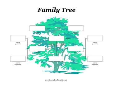 Two Fathers with Surrogate Family Tree Template