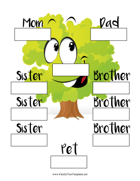 Two Generation Child Family Tree Template