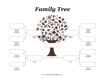Two Mothers Adoptive Family Tree Template