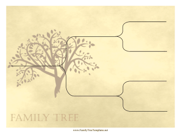 Vintage Ancestry Chart 3 Generations Template
