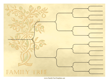 Vintage Ancestry Chart 5 Generations Template