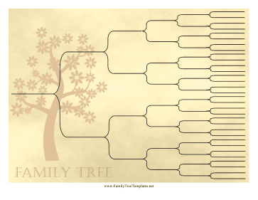 Vintage Ancestry Chart 6 Generations Template