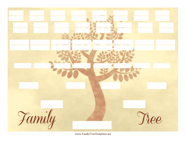 Vintage Family Tree 6 Generations Template