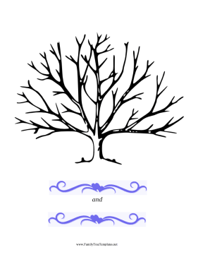 Wedding Thumbprint Tree Template