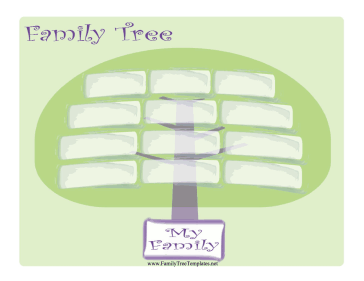 Wide Family Tree Template