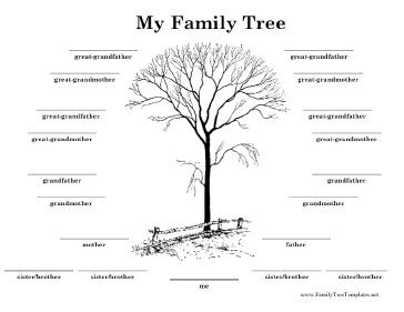 family tree with lines template