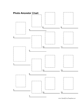 Photo Ancestor Chart Template
